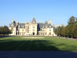 The Biltmore estate on a Sunday morning in October.
