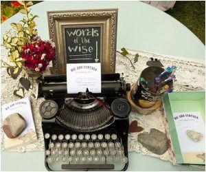 Book Typewriter Guestbook