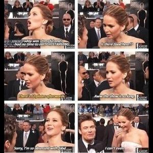 Jennifer Lawrence on Food