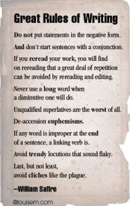 Great Rules of Writing